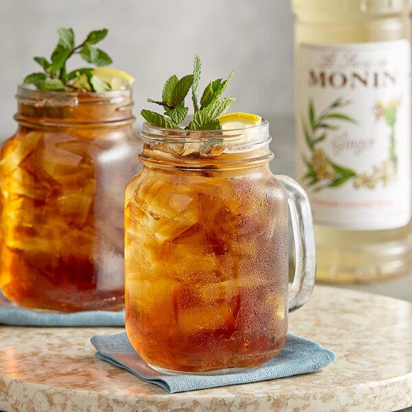 Monin 1 Liter Premium Ginger Flavoring Syrup Main Image 2