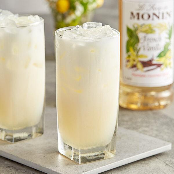 Monin 1 Liter Premium French Vanilla Flavoring Syrup Main Image 2