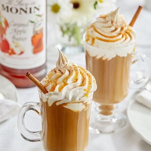 Monin 1 Liter Premium Caramel Apple Butter Flavoring Syrup Main Image 2