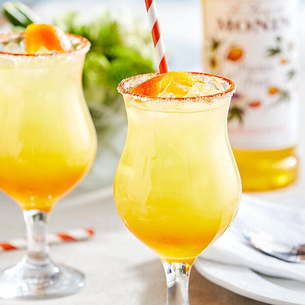 Monin 1 Liter Premium Passion Fruit Flavoring / Fruit Syrup Main Image 2