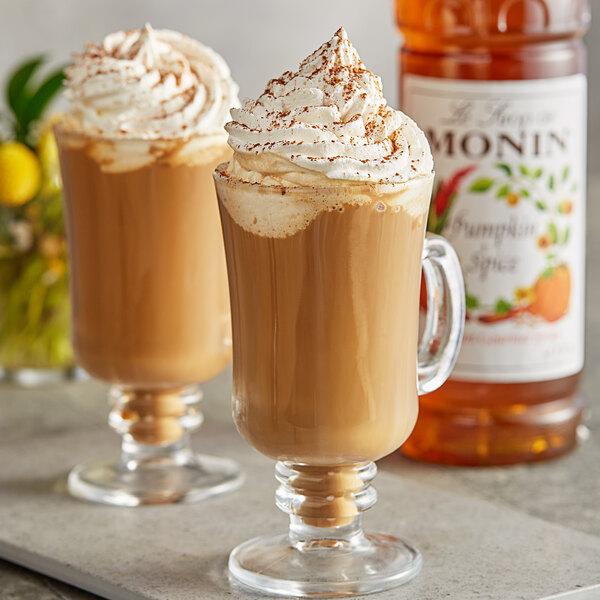 Monin 1 Liter Premium Pumpkin Spice Flavoring Syrup Main Image 2