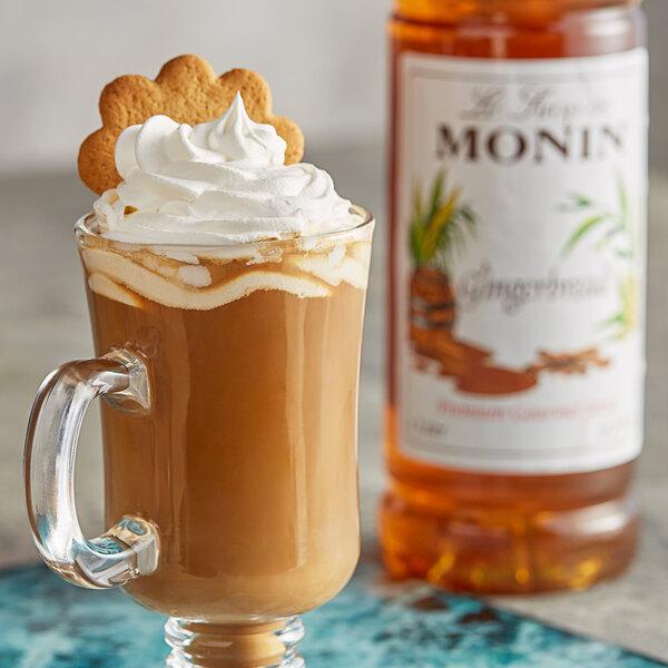 Monin 1 Liter Premium Gingerbread Flavoring Syrup Main Image 2
