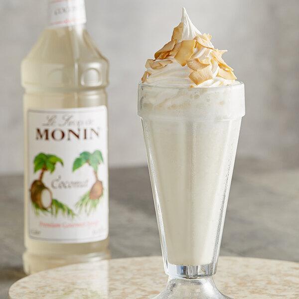 Monin 1 Liter Premium Coconut Flavoring Syrup Main Image 2
