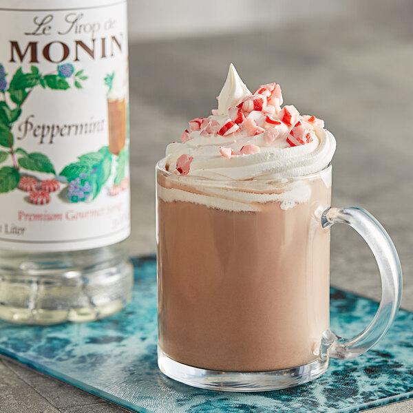 Monin 1 Liter Premium Peppermint Flavoring Syrup Main Image 2