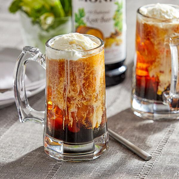 Monin 1 Liter Premium Old Fashioned Root Beer Flavoring Syrup Main Image 2