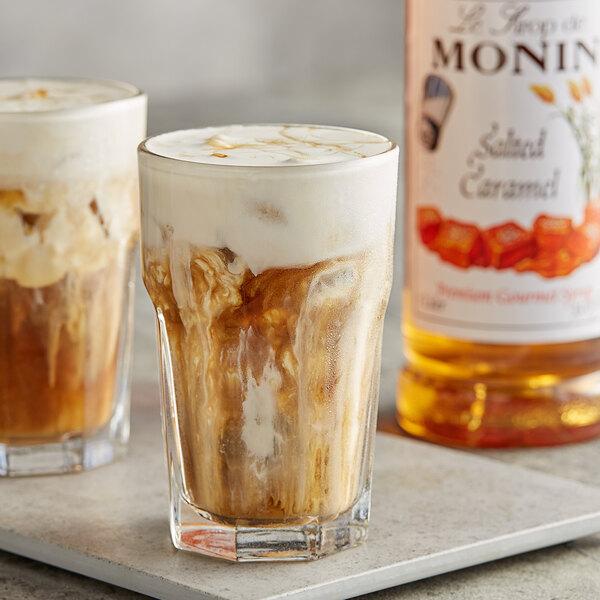 Monin 1 Liter Premium Salted Caramel Flavoring Syrup Main Image 2