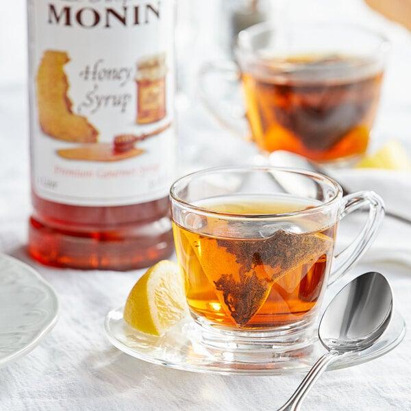 Monin 1 Liter Premium Honey Syrup Main Image 2