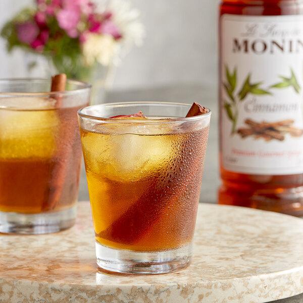 Monin 1 Liter Premium Cinnamon Flavoring Syrup Main Image 2