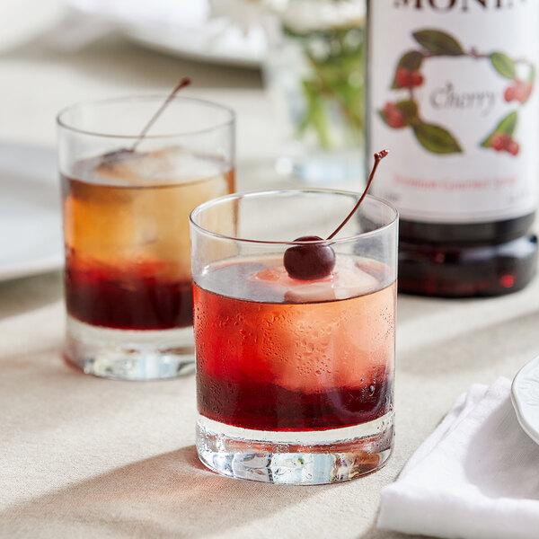 Monin 1 Liter Premium Cherry Flavoring / Fruit Syrup Main Image 2