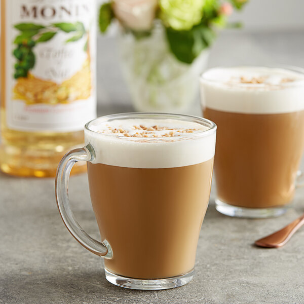 Monin 1 Liter Premium Toffee Nut Flavoring Syrup Main Image 2