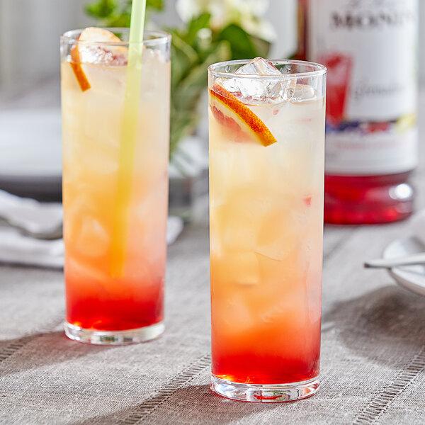 Monin 1 Liter Premium Grenadine Flavoring Syrup Main Image 2