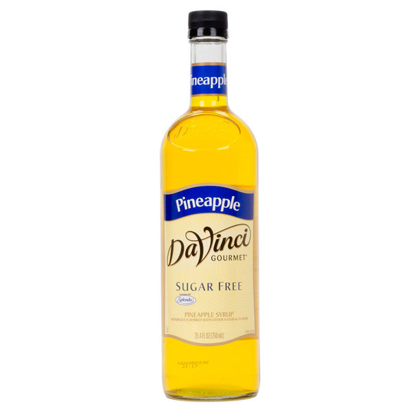 DaVinci Gourmet 750 mL Sugar Free Pineapple Flavoring / Fruit Syrup