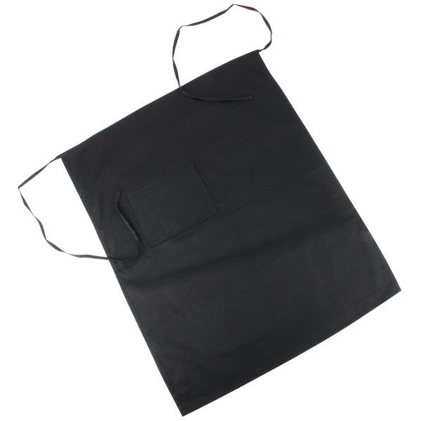 Choice Black Bistro Apron with Pocket - 34 inchL x 28 inchW