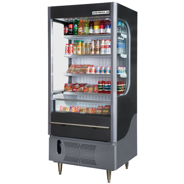 "Beverage-Air VM12-1-B VueMax 35"" Black Air Curtain Merchandiser"