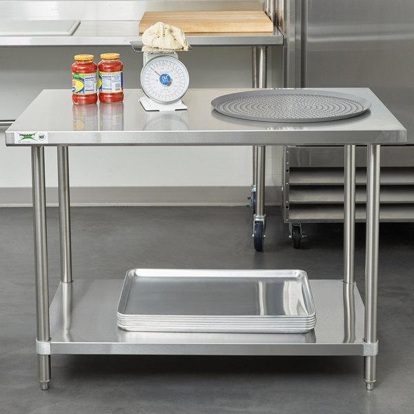 Regency X Gauge Stainless Steel Commercial Work Table - Large stainless steel work table