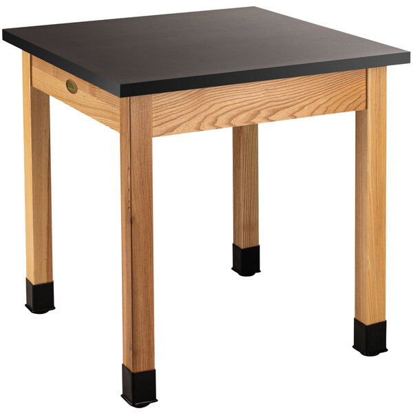 """National Public Seating SLT1-3030C 30"""" x 30"""" Science Lab Table with Chem-Res Top - 30"""" Height Main Image 1"""