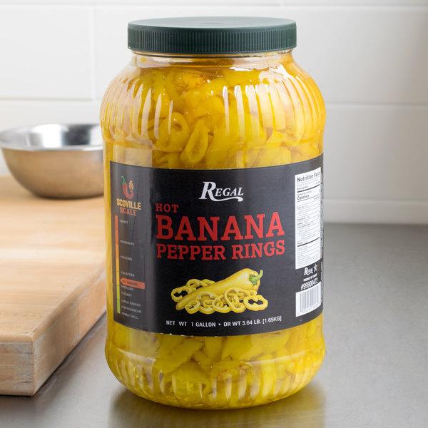 Regal Foods Hot Banana Pepper Rings 1 Gallon