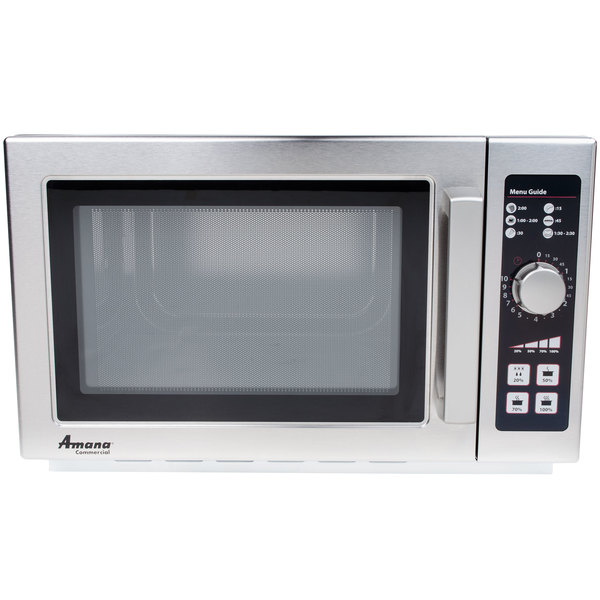 Amana Rcs10dse Medium Volume Stainless Steel Commercial Microwave 120v 1000w