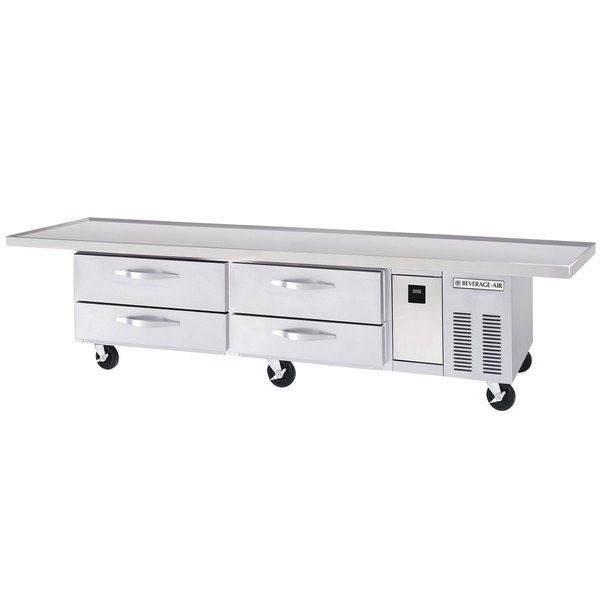 "Beverage-Air WTRCS84-1-108 108"" Four Drawer Refrigerated Chef Base"