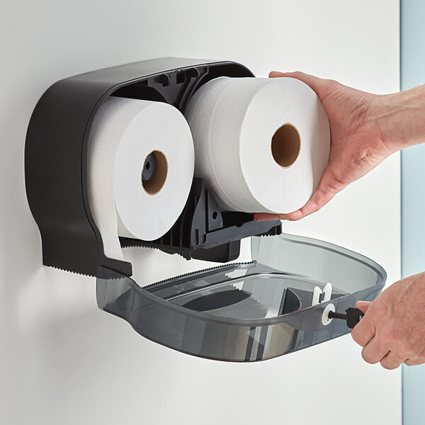 Sierra Hygiene Little Big Roll Toilet Tissue Twin Dispenser Main Image 4