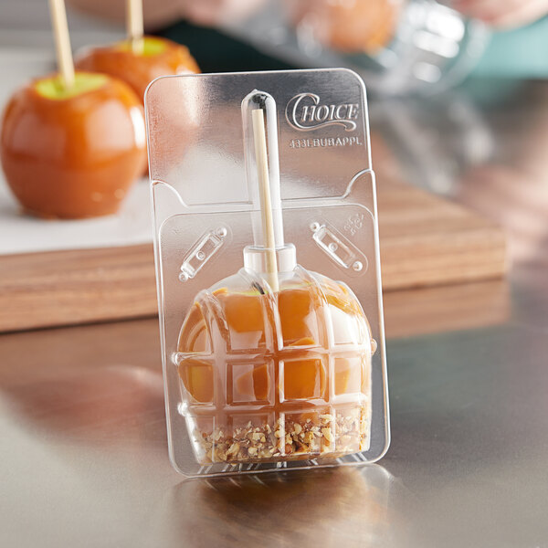 Choice Large Disposable Candy Apple Bubble - 50/Pack Main Image 2