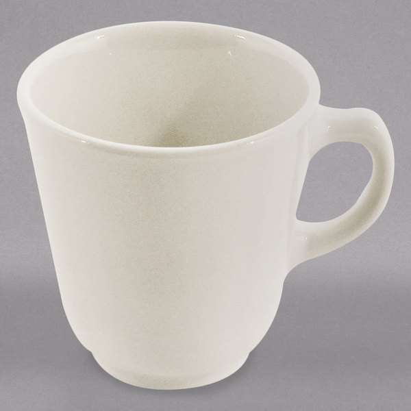 Homer Laughlin 11700 7 oz. Ivory (American White) Rolled Edge Atlas China Cup - 36/Case