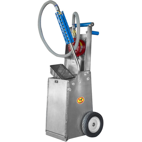 Shortening Shuttle® SS-645 Simplicity Series 42 lb. Mini Mobile Waste Oil Transport Container with Pump Main Image 1