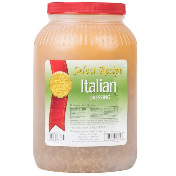 Traditional Italian Dressing - (4) 1 Gallon Containers / Case - 4/Case