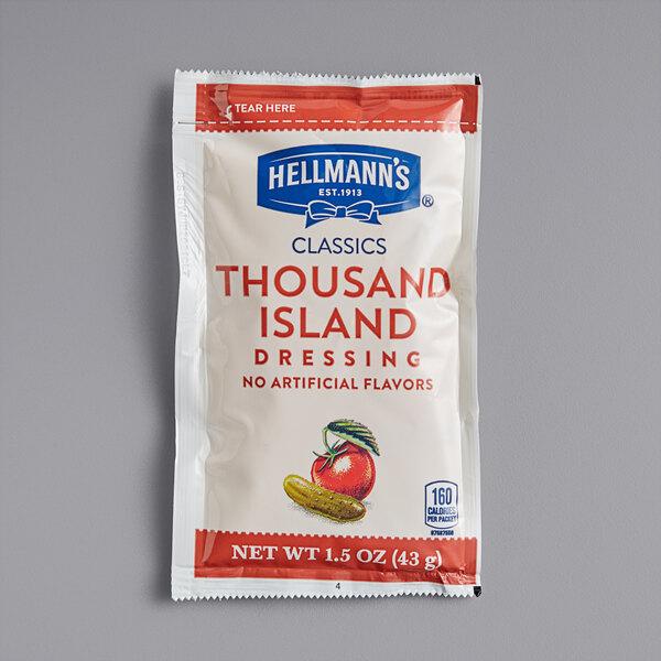 Hellmann's 1.5 oz. Thousand Island Dressing Packet - 102/Case