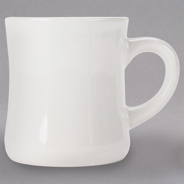 e0cfe9891d6 Choice 12 oz. Ivory (American White) Victor China Coffee Mug - 12/Pack