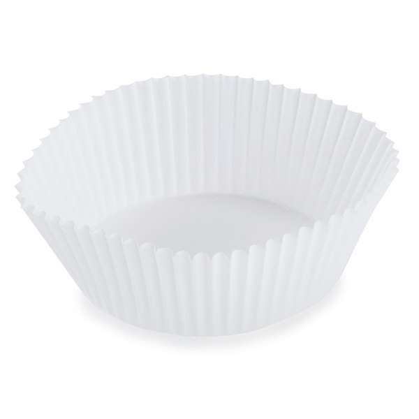 "White Fluted Baking Cup 3 1/2"" x 1 1/2"" - 5000/Case"