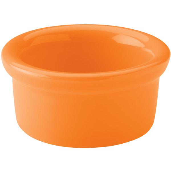 Hall China 30366325 Tangerine 5 oz. Colorations Round China Ramekin - 24/Case