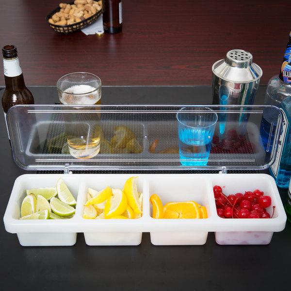 4 Compartment Bar Condiment Tray