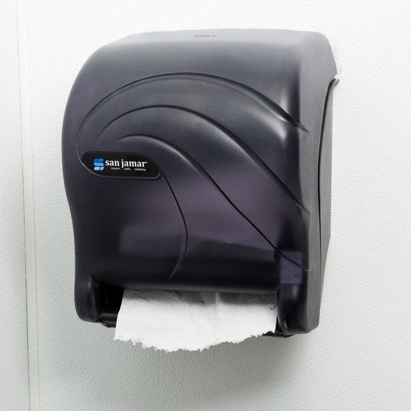 San Jamar T8090TBK Oceans Essence Hands Free Paper Towel Dispenser - Black Pearl