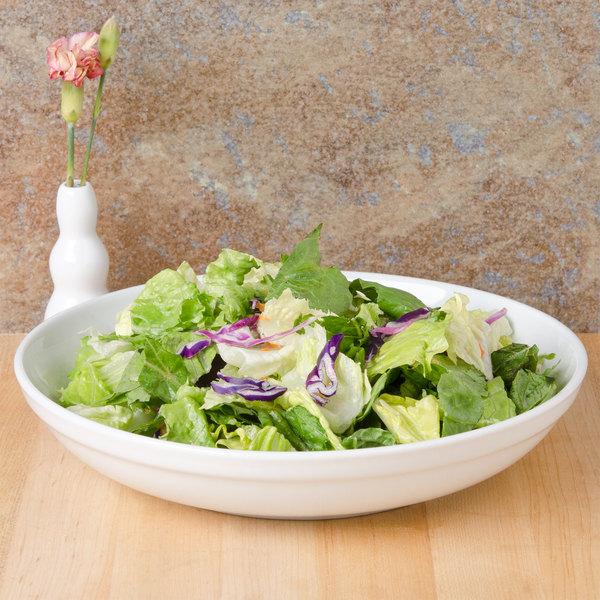 CAC SAL-2 Festiware 48 oz. Super Bright White Porcelain Salad / Pasta Bowl - 12/Case Main Image 6
