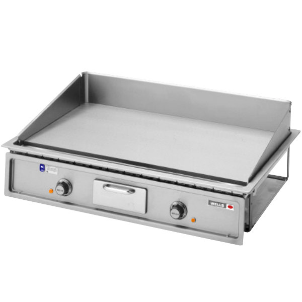 """Wells G-196 Drop-In 36"""" Countertop Electric Griddle - 240V, 12000W"""