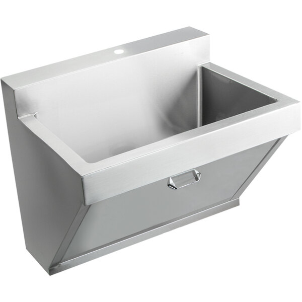 "Elkay EWSF130261 Stainless Steel Wall Hung Single Bowl Surgeon Scrub Sink - 26"" x 16 1/4"" x 11"" Bowl Main Image 1"