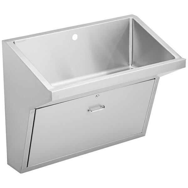 "Elkay EWSFAD136201 Stainless Steel Wall Hung Single Bowl ADA Surgeon Scrub Sink - 33"" x 16 1/2"" x 6 1/2"" Bowl Main Image 1"