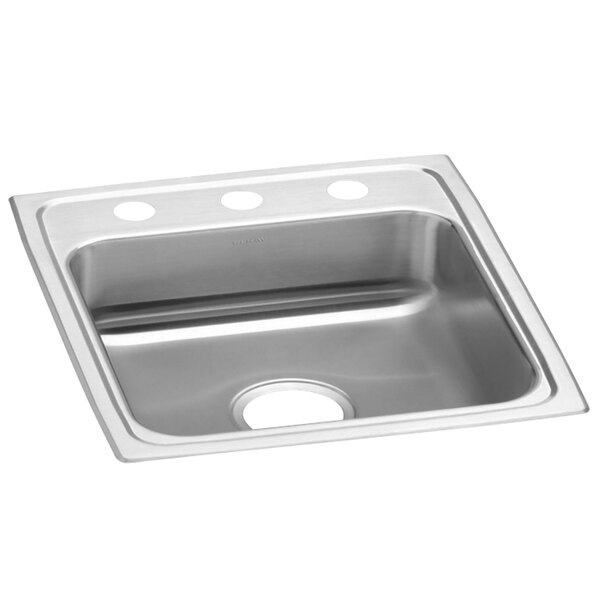 """Elkay LRAD1720603 Lusterstone Classic Single Bowl ADA Drop-In Sink with Three Faucet Holes - 14"""" x 14"""" x 5 7/8"""" Bowl Main Image 1"""