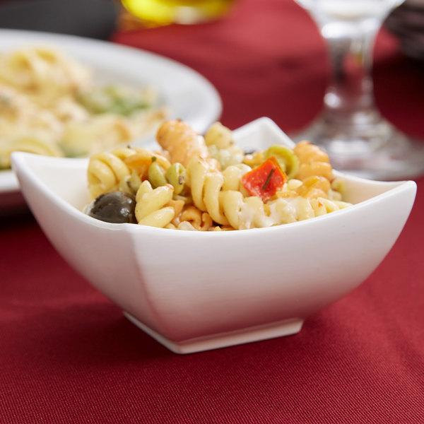 Arcoroc R0735 Appetizer 4.5 oz. White Deep Square Porcelain Dish by Arc Cardinal - 6/Pack