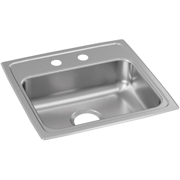 """Elkay LRAD1918552 Lusterstone Classic Single Bowl ADA Drop-In Sink with Two Faucet Holes - 16"""" x 11 1/2"""" x 5 3/8"""" Bowl Main Image 1"""