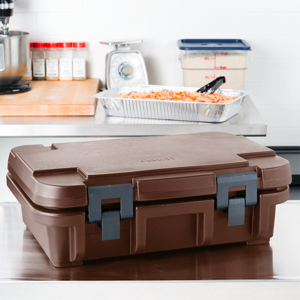"Cambro UPC140131 Dark Brown Camcarrier Ultra Pan Carrier® - Top Load for 12"" x 20"" Food Pan"