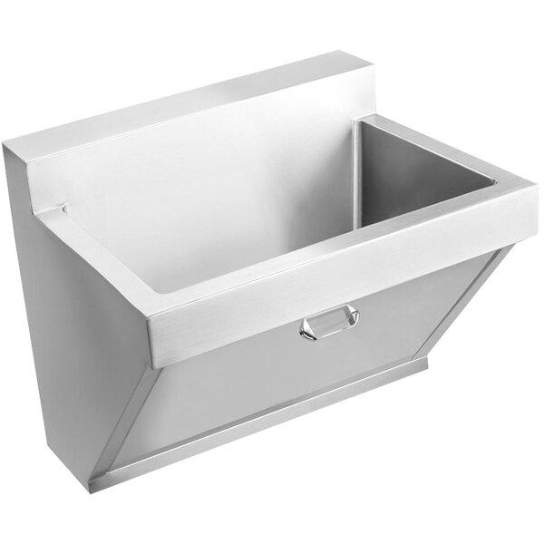 "Elkay EWSF13026KWC Stainless Steel Wall Hung Single Bowl Surgeon Scrub Sink Kit with Hands-Free Operation - 26"" x 16 1/4"" x 11"" Bowl Main Image 1"