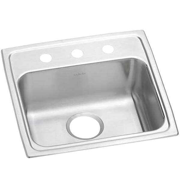 """Elkay LRAD1919553 Lusterstone Classic Single Bowl ADA Drop-In Sink with Three Faucet Holes - 16"""" x 13 1/2"""" x 5 3/8"""" Bowl Main Image 1"""
