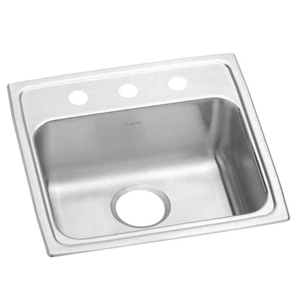 """Elkay LRAD1918603 Lusterstone Classic Single Bowl ADA Drop-In Sink with Three Faucet Holes - 16"""" x 11 1/2"""" x 5 7/8"""" Bowl Main Image 1"""