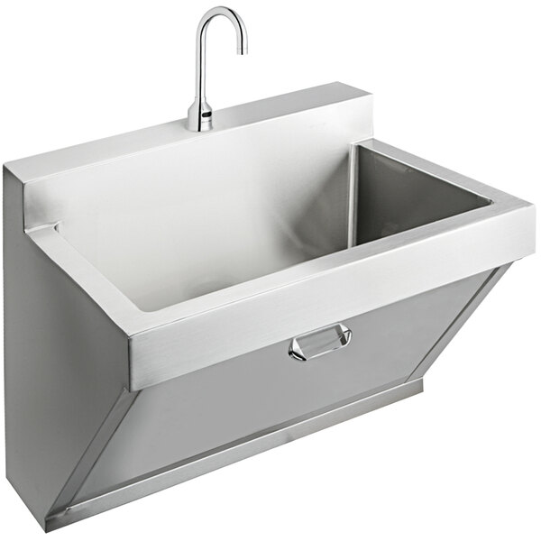 "Elkay EWSF13026SACC Stainless Steel Wall Hung Single Bowl Surgeon Scrub Sink Kit - 26"" x 16 1/4"" x 11"" Bowl Main Image 1"