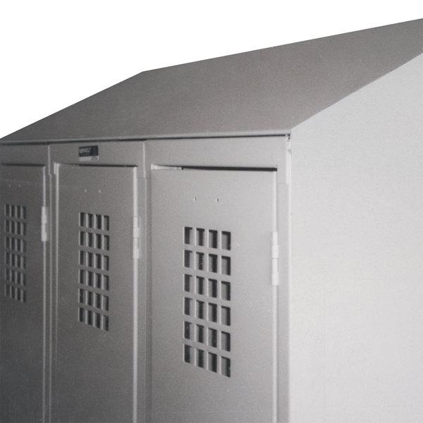 "Winholt WLST-12 Slope Top Crown Kit for 12"" Deep Triple Column Lockers Main Image 1"