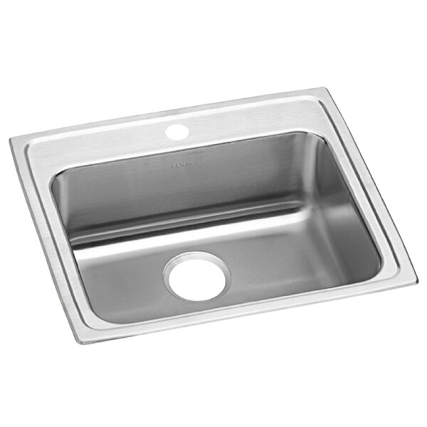 """Elkay LRAD2521551 Lusterstone Classic Single Bowl ADA Drop-In Sink with One Faucet Hole - 21"""" x 15 3/4"""" x 5 3/8"""" Bowl Main Image 1"""