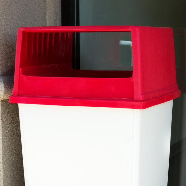 Rubbermaid FG256V00RED Glutton Red Hooded Top Without Doors for FG256B00 Container
