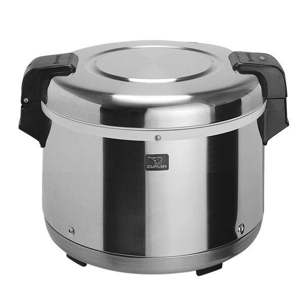 Zojirushi THA-603SA 33 Cup Stainless Steel Electric Rice Warmer with Removable Pot - 120V, 77W Main Image 1